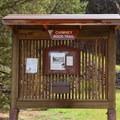 The trailhead for Chimney Rock.- Chimney Rock Trail