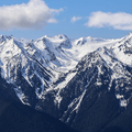 View of the Olympic Mountain Range looking west.- Hurricane Ridge