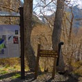 The other end of the trailhead for Convict Lake Loop Trail.- Convict Lake Loop Trail