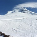 Mount Hood (11,250') from Silcox Hut.- Silcox Hut