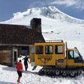 Silcox Hut with Mount Hood (11,250').- Silcox Hut