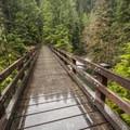 Bridge over Graves Creek on the Enchanted Valley Trail.- Enchanted Valley Trail to Pony Bridge
