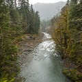 View of Graves Creek from the Enchanted Valley Trail.- Enchanted Valley Trail to Pony Bridge