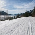 Iron Horse Trail alongside Keechelus Lake- Mount Catherine