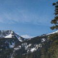Looking up the Twin Lakes drainage towards Silver Peak (5,605').- Mount Catherine