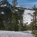 Looking west toward Silver Peak (5,605').- Mount Catherine