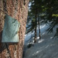 Route marker on Mount Catherine.- Mount Catherine