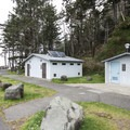 Restroom facilities at Rialto Beach.- Rialto Beach