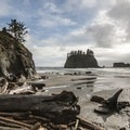 View toward Crying Lady Rock from La Push, Second Beach.- La Push, Second Beach