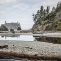 View from Ruby Beach toward Abbey Island across Cedar Creek.- Ruby Beach