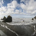 Panoramic view from Ruby Beach.- Ruby Beach