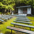 Amphitheater with summer programs in Kalaloch Campground.- Kalaloch Campground