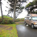 Typical campsite in Kalaloch Campground.- Kalaloch Campground