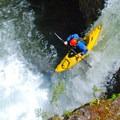 Jarred Jackman on Split Falls.- Salmon River Canyon