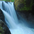 Vanishing Falls features two undercut pockets in the landing zone.- Salmon River Canyon