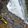 The anchor at the lip of Final Falls makes for a spectacular rappel.- Salmon River Canyon
