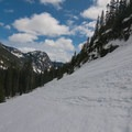 Ski tracks leading back to Alpental Ski Area.- Source Lake