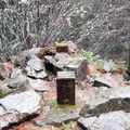 The summit of Hardesty mountain holds a record of its past as a former lookout site.- Eula Ridge Hike