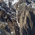 A nice view of the coveted Pinner Couloir on Laurel Moutain as seen from the approach to Morrision Col.- Morrison Col