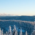 View south to Mount Jefferson (10,495').- Tom Dick + Harry Mountain