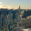View southeast from the ridge.- Tom Dick + Harry Mountain