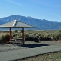 Both loops of the campground have vast mountain and desert views.- Washoe Lake State Park Campground