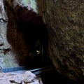 Inside Bear Gulch Talus Cave.- Moses Springs Trail