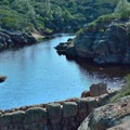 Bear Gulch Reservoir.- Moses Springs Trail