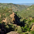 A fantastic view over Pinnacles National Park.- Moses Springs Trail
