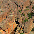 Interesting formations on the Moses Spring Trail.- Moses Springs Trail
