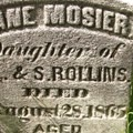 Jane Mosier's headstone.- Mosier Creek Falls + Plateau Trail