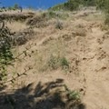 Another steep and exposed section of trail on the Novato Hill Climb.- Novato Hill Climb