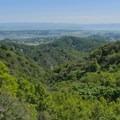 Views of Novato and beyond.- Novato Hill Climb