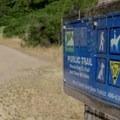 Trail marker.- Novato Hill Climb