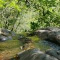 A small waterfall near the beginning of the Novato Hill Climb.- Novato Hill Climb