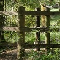 A trail gate in Wildwood Hills Park.- Westwood Hills Park