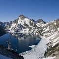 Sawtooth Lake.- Alpine + Sawtooth Lakes, Iron Creek Drainage