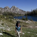 One of several unnamed lakes in the Alpine Creek basin.- Alpine Creek Canyon