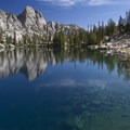 The upper South Alpine Lake (8,722').- Alpine Creek Canyon