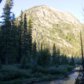 Look up Iron Creek from the Alpine Way junction.- Alpine + Sawtooth Lakes, Iron Creek Drainage