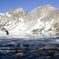 Sawtooth Lake outlet.- Alpine + Sawtooth Lakes, Iron Creek Drainage