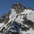 The north Face of Mount Regan (10,190') towers above Sawtooth Lake.- Alpine + Sawtooth Lakes, Iron Creek Drainage