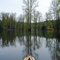 Canoeing in Disappearing Lake.- Disappearing Lake