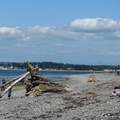Afternoon beach activity.- Birch Bay State Park
