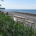 Beach views and the shore road.- Birch Bay State Park