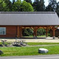 Reservable kitchen shelter and restroom facilities.- Birch Bay State Park