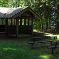 The wilderness theater in the community area.- Birch Bay State Park Campground