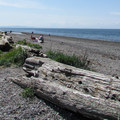 Direct Birch Bay beach access.- Birch Bay State Park Campground