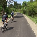 Bikers on the path near Boring.- Springwater Corridor