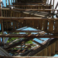 Looking up the 74' tower.- Heybrook Lookout